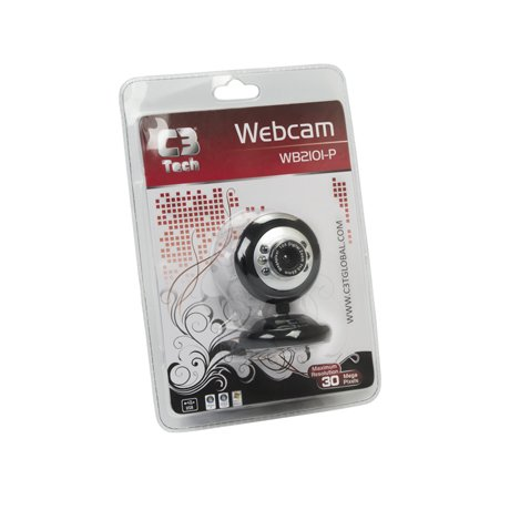 WEBCAM C3TECH USB 908 PRETO/PRATA (2.0MP)