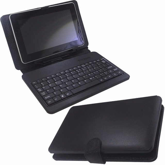 CAPA P/ TABLET+TECLADO FOSTON 7 PRETO
