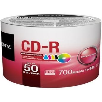 CD-R 700 MB 80MIN 52X SONY PRINTABLE