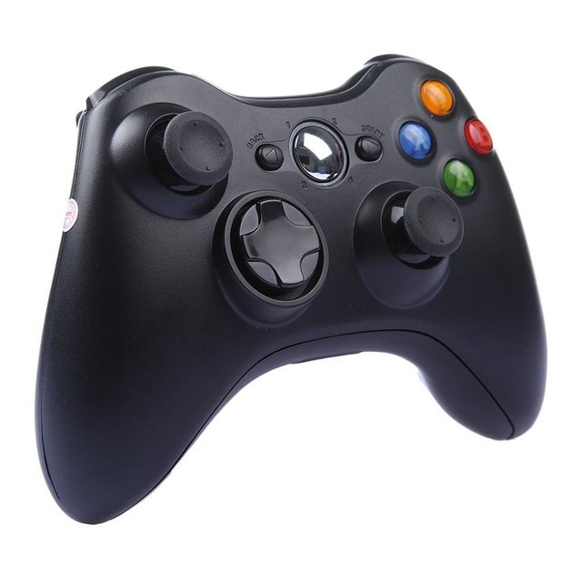 CONTROLE XBOX 360 JOYSTICK WIRELESS BLACK