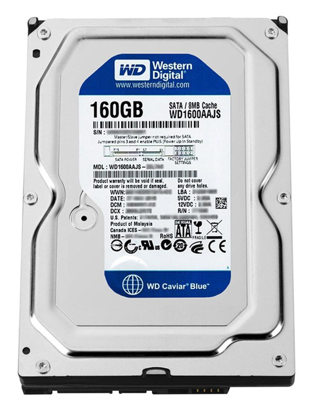 HD SATA 160.0 GB WESTERN DIGITAL 7200