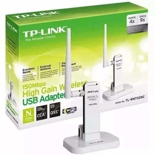 REDE USB WIRELESS TP-LINK TL-WN722NC 150 MBPS