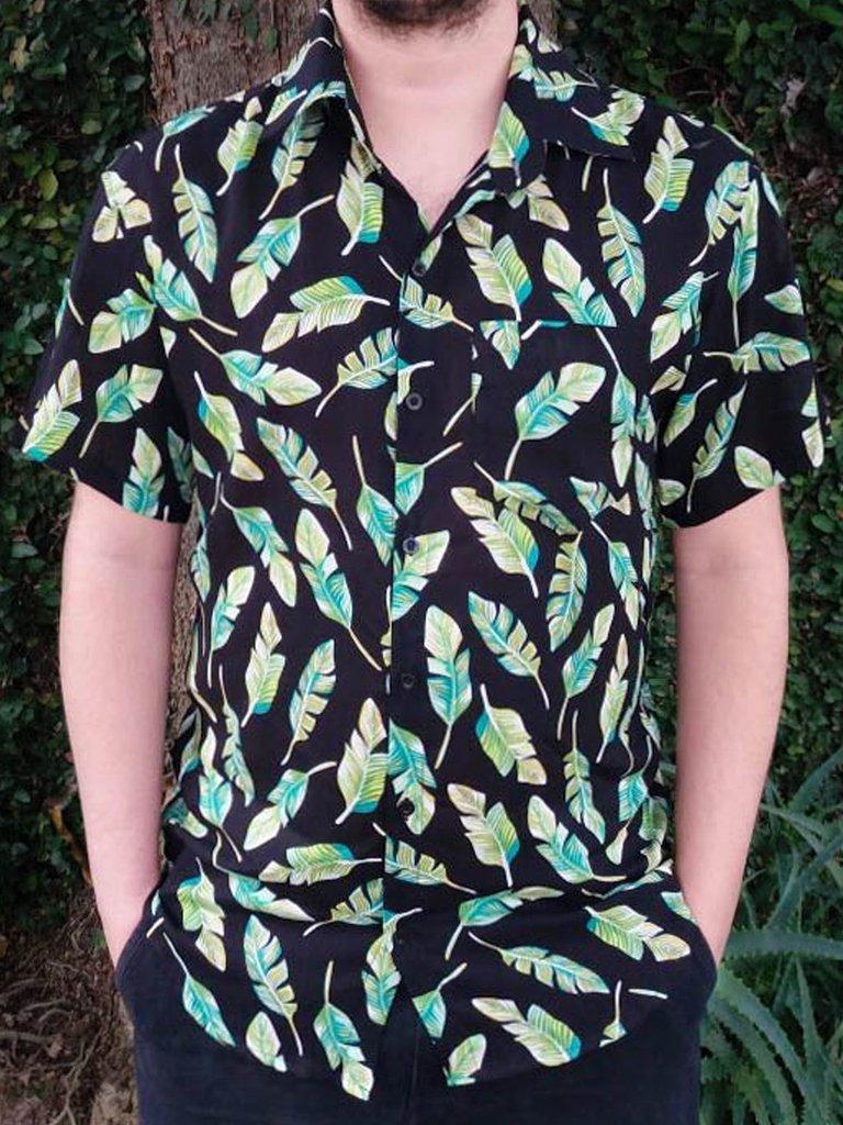 Camisa Estampada Bananeira - PhiPhi Camisaria a6d54331322f3