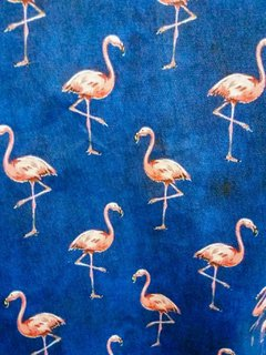 estampa flamingos