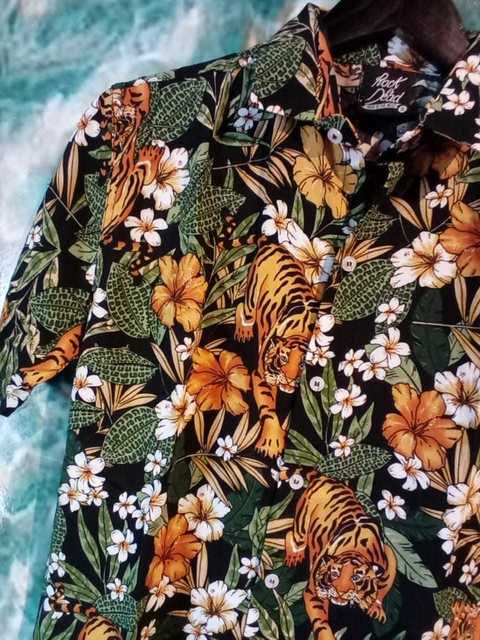 CAMISA TIGRE FLOR ROCK IS DHEAD