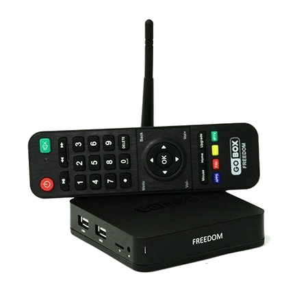 Imagem do Receptor GoBox Freedom 4K ACM IPTV VOD NETLINK