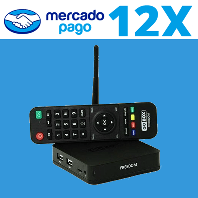 Receptor GoBox Freedom 4K ACM IPTV VOD NETLINK na internet