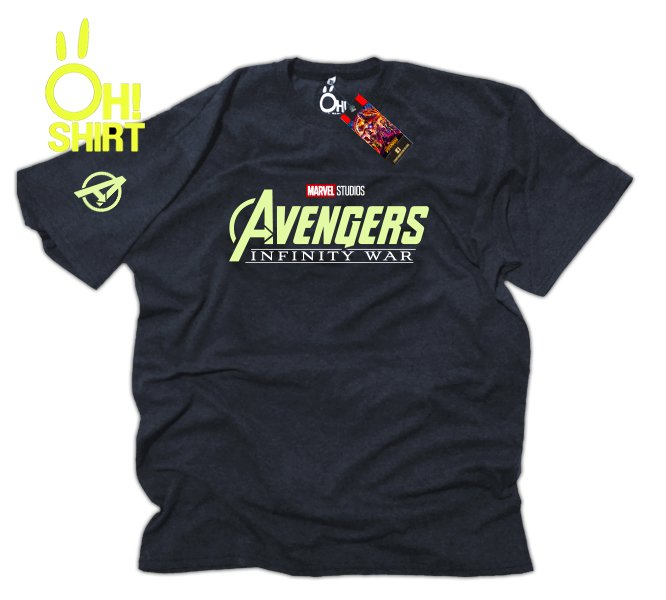 Remera Avengers Logo Fluo