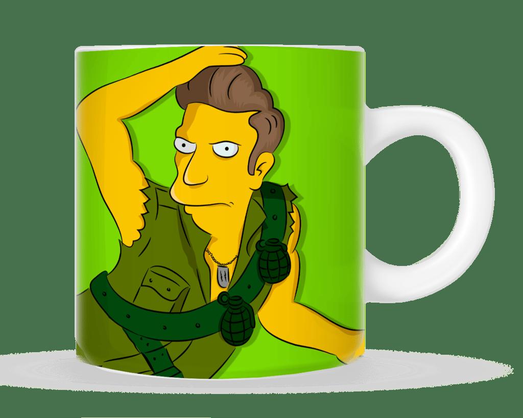 """Tazas Armando Barreda """"Mi sueño es tener la taza bien cargada"""" - The Simpsons"""