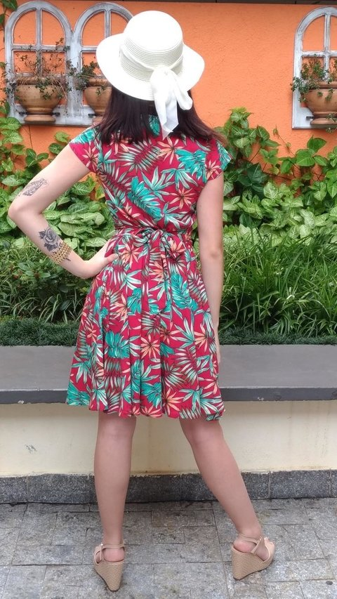 Dress Florência Botanic Red - online store