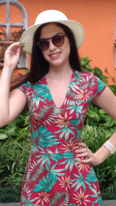 Image of Dress Florência Botanic Red