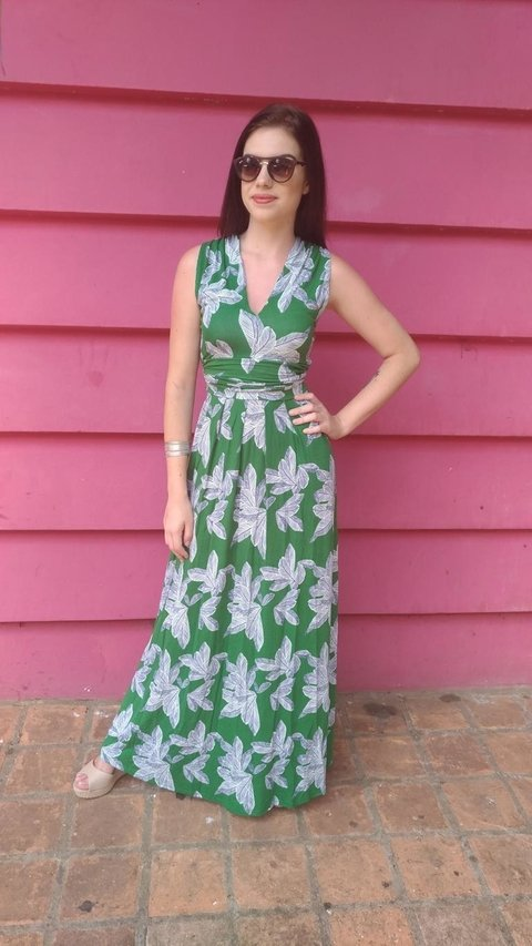 Dress 3 Shapes nature green on internet