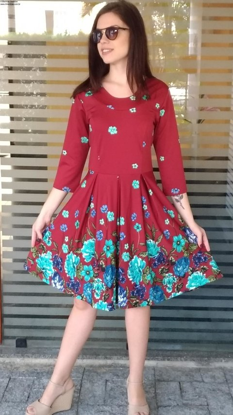 Midi Floral wineDress - buy online
