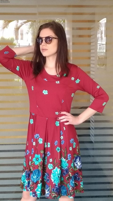 Image of Midi Floral wineDress