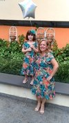 Short Mother and Daughter Tropical Dress on internet
