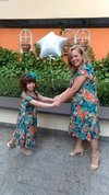 Short Mother and Daughter Tropical Dress - online store