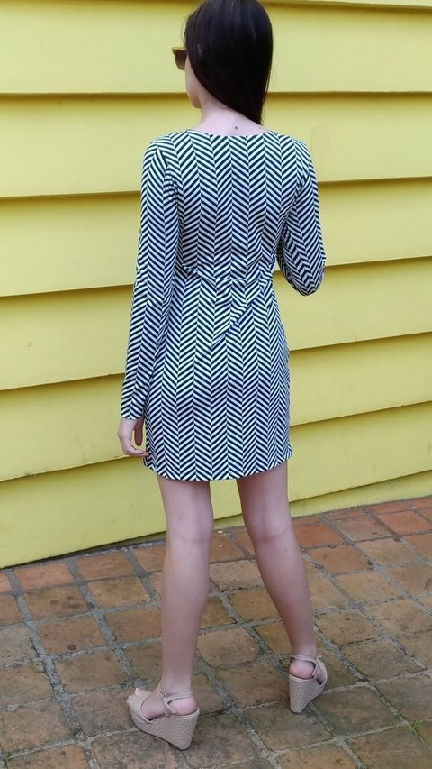 Image of Jacquard Dress with Bow Ref-007