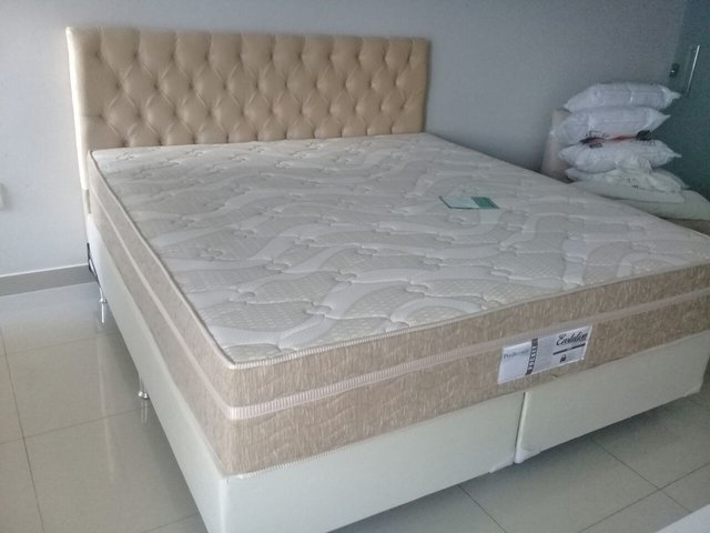 CONJUNTO CAMA BOX SUPER KING 193X203 PROBEL COLCHAO EVOLUTION
