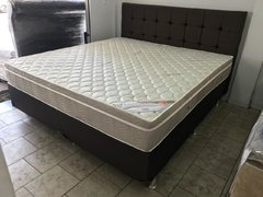 CONJUNTO CAMA BOX SUPER KING 193X203 ORTOBOM COLCHAO LIGHT SUPER POCKET - Chimango Colchões