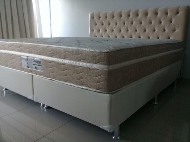 CONJUNTO CAMA BOX SUPER KING 193X203 PROBEL COLCHAO EVOLUTION - comprar online