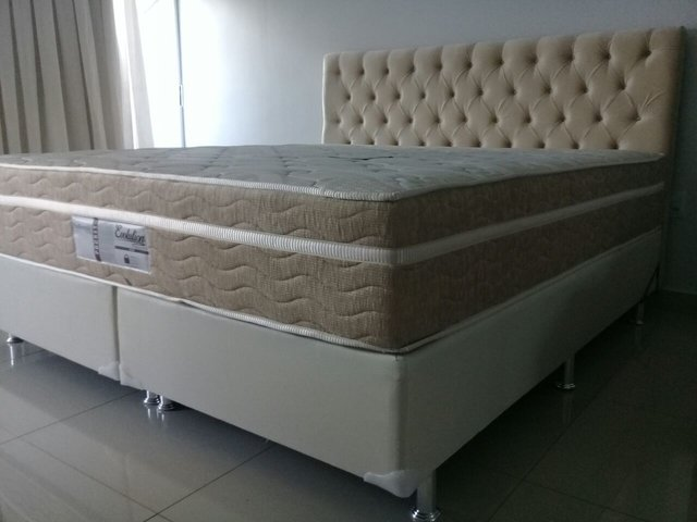CONJUNTO CAMA BOX SUPER KING 193X203 PROBEL COLCHAO EVOLUTION na internet