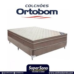 CONJUNTO CAMA BOX SUPER KING 193X203 ORTOBOM COLCHAO LIGHT SUPER POCKET - comprar online
