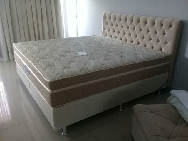 CONJUNTO CAMA BOX SUPER KING 193X203 PROBEL COLCHAO EVOLUTION - Super Sono Colchoes e camas