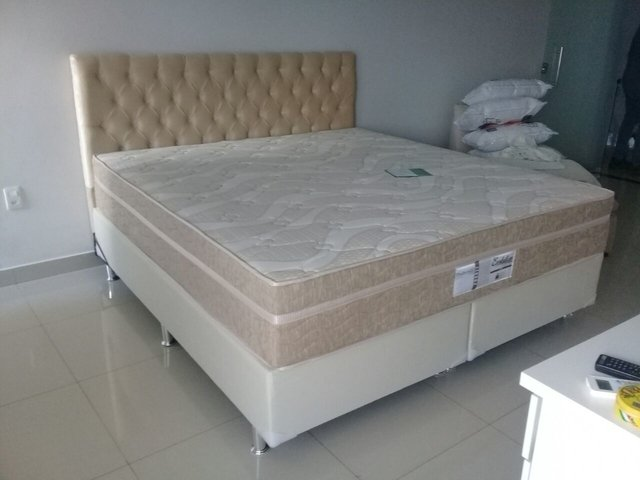 Imagem do CONJUNTO CAMA BOX SUPER KING 193X203 PROBEL COLCHAO EVOLUTION