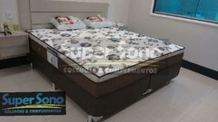CONJUNTO CAMA BOX QUEEN SIZE 158X198 ORTOBOM COLCHÃO CLASSIC GOLD SUPER POCKET