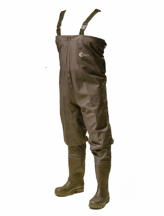 WADERS CON BOTAS PVC MARRON