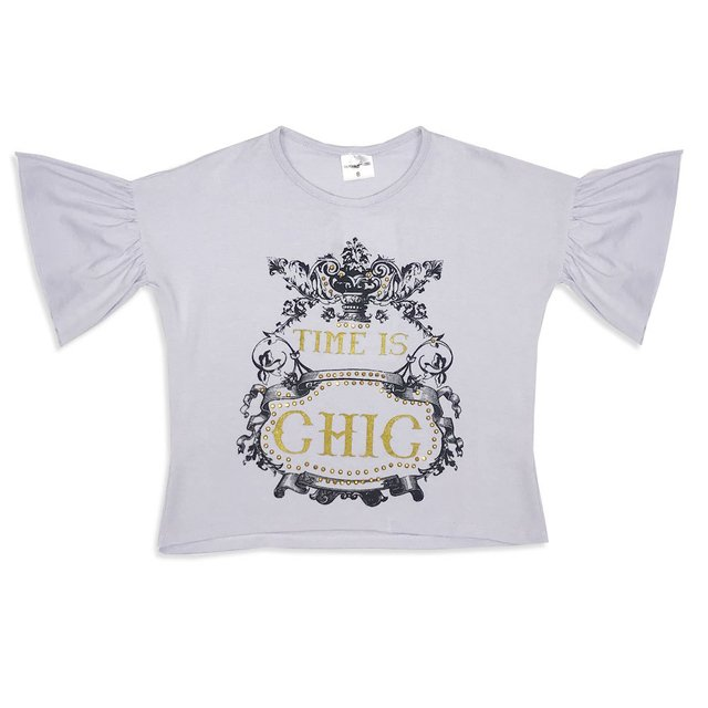 Blusa Time is Chic Branco Ref 1874