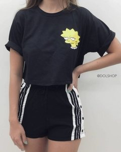 t-shirt cropped lisa simpson na internet