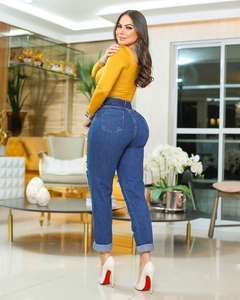 calça mom jeans denver c/cinto na internet