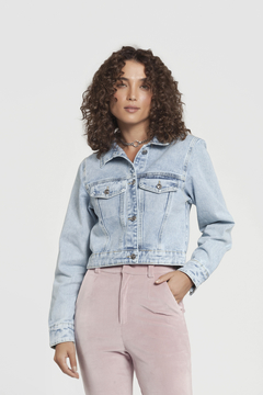 jaqueta jeans cropped bordada avoid humans - comprar online