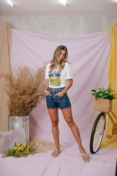 shorts mom jeans miami - comprar online