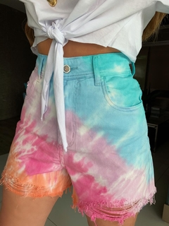shorts jeans sorella tie-dye destroyed - dolshop