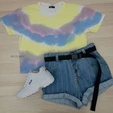 t-shirt cropped tie-dye chill