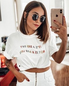 t-shirt cropped bad day