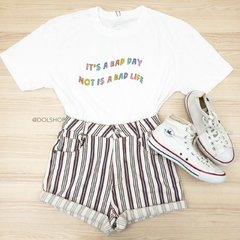 t-shirt cropped bad day na internet