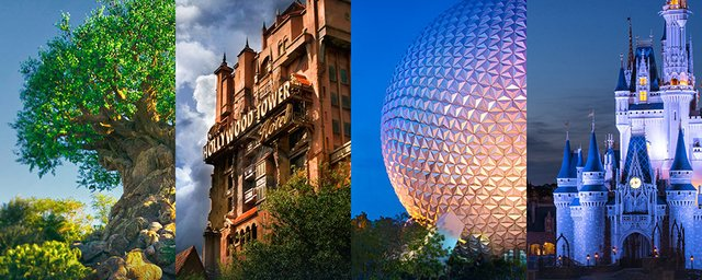 2 DAYS CHOOSE MAGIC KINGDOM, DISNEY'S HOLLYWOOD STUDIOS, EPCOT OU DISNEY'S ANIMAL KINGDOM