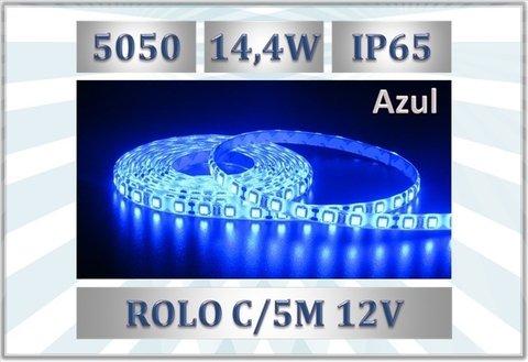 Fita Led Azul 5050 12v 14,4w/m