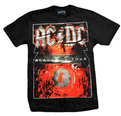 Remera AC DC - BLACK ICE TOUR