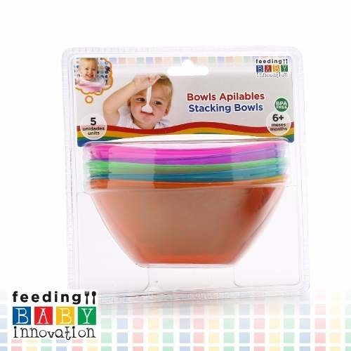 Cinco Coloridos Bowls Apilables X 5 Baby Innovation