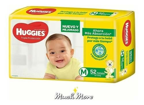 Pañales Huggies Classic Hiperpack Triple Proteccion M G Xg X - comprar online