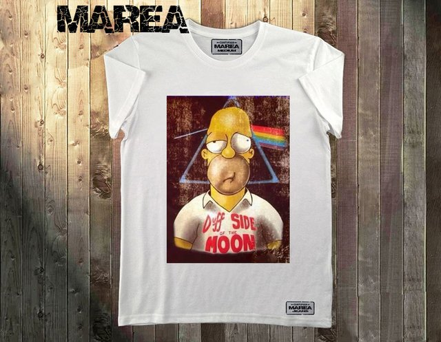 Remera Estampada Homero Pink Floyd Marea Jeans Tandil