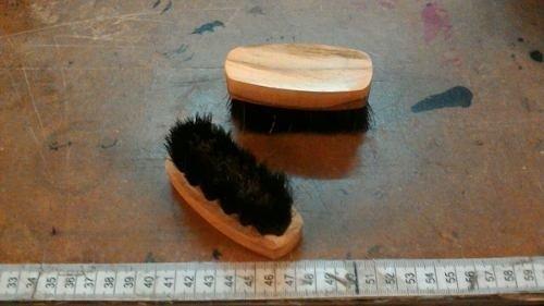 Cepillo Para Gamuza Ovalado Con Cerda De Bronce Y Pelo