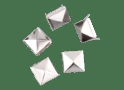 Tachas Marroquinería Piramidal 20x20mm Niquel o Bronce