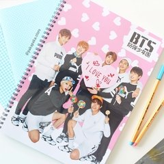 Caderno BTS I Love You na internet