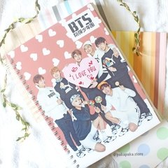 Caderno BTS I Love You