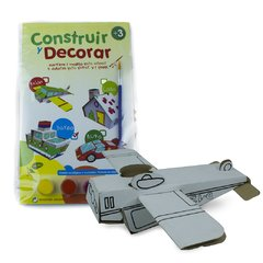 Kit Construir y Decorar - Modelo: Avión